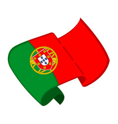 Isolated flag of portugal vector