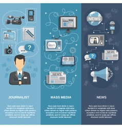 Journalist Banner Set vector