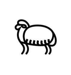 linear stylized drawing of sheep vector image