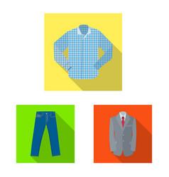 man and clothing logo set vector image