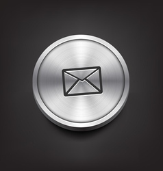 Metal Email Icon vector image