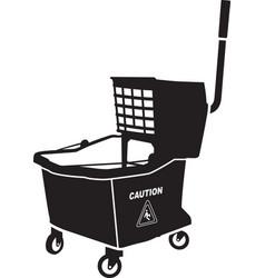 Mop bucket vector