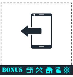outcoming calls icon flat vector image