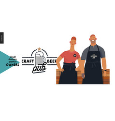 owners - small business graphics - craft beer pub vector image