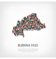 people map country Burkina Faso vector image