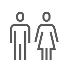 Public navigation line icon wc toilet vector