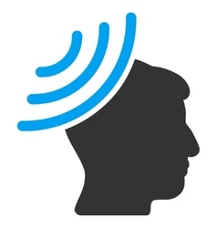 Radio Reception Mind Flat Icon vector
