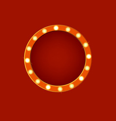 realistic detailed 3d glowing sign round vector image