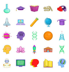 Resource icons set cartoon style vector