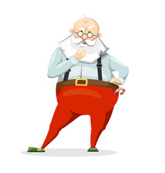 santa claus scratching his beard much thought vector image