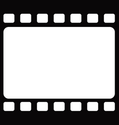 Seamless blank tranitional retro film frame vector