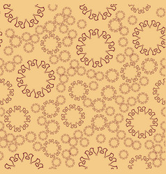 Seamless henna flower mandala for print on textile vector