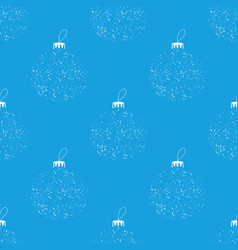 Seamless pattern made from white christmas bauble vector