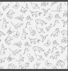 seamless pattern of origami vector image