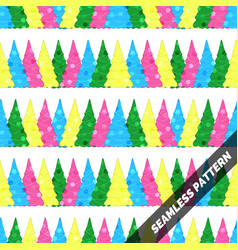 seamless pattern with christmas trees of different vector image