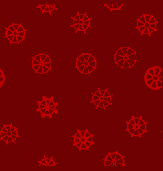seamless pattern with dharmachakra vector image