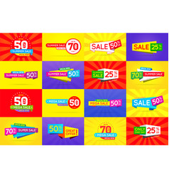 set of sale signs banners posters cards vector image
