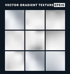 silver gradient texture pattern set for the vector image