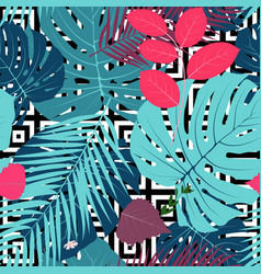 Summer abstract seamless pattern background with vector