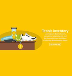 Tennis inventory banner horizontal concept vector
