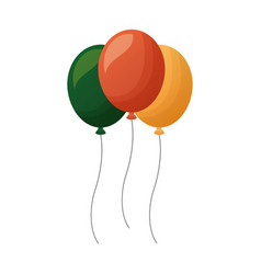 three balloons decoration vector image