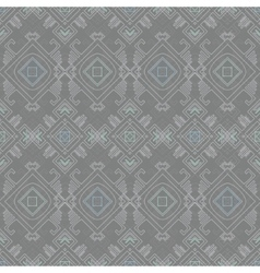 Tribal wire grey blue seamless pattern vector