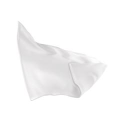 Uo a very white napkin vector
