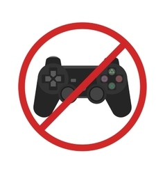 video game console ban joystick symbol vector image