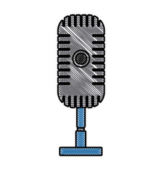 vintage microphone isolated vector image