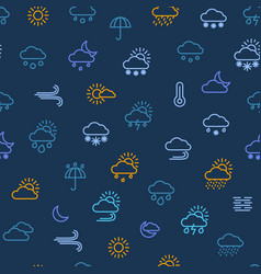 weather forecast thin line seamless pattern vector image