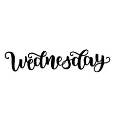 wednesday handwriting font calligraphy vector image