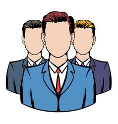 businessmen icon cartoon vector image vector image