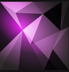 low poly design element on purple gradient vector image