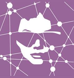 portrait of a woman vector image vector image