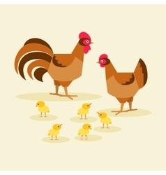 Chicken family bird vector image vector image
