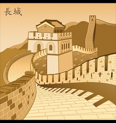chinese wall vector image
