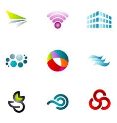logo design elements set 62 vector image vector image