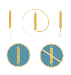 logo wheat cereal set vector image