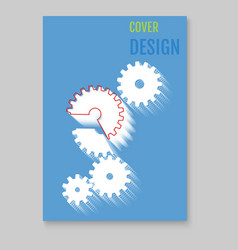 modern abstract brochure - report design template vector image