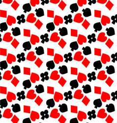 Pattern card suits vector image
