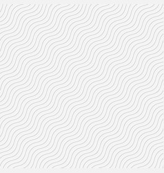 seamless wave tile white vector image