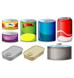 Set of cans vector image vector image