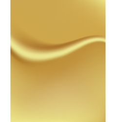 Golden background with a fold Silk tissue vector image