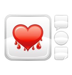 Happy Valentines day romance love heart Bleeding vector image vector image