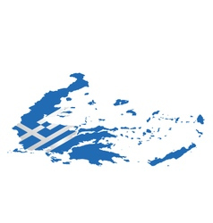 Isometric Greece Flag vector image vector image