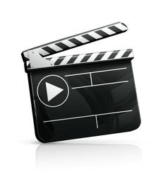 Movie clap vector image vector image
