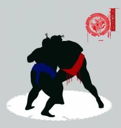 sumo fighters vector image vector image