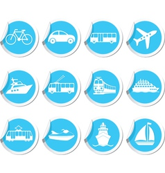 transport icons12 vector image