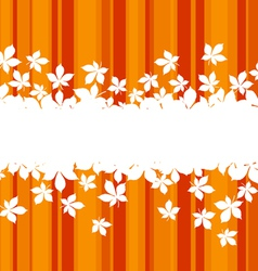 autumnal leaves vector image vector image