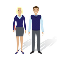 business people man and woman office employees vector image vector image